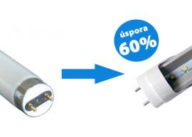 Výměna běžných zářivek T8 za LED zářivky