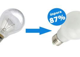 Výměna klasických žárovek za LED žárovky