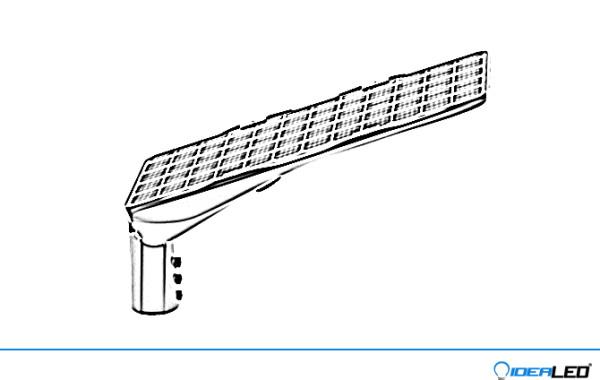LED solární veřejné osvětlení